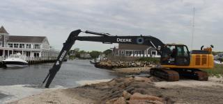 Excavator Dredge in action